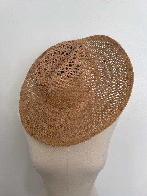 Vintage Straw Hat / Summer / Women's Hat / 70's S… - image 4