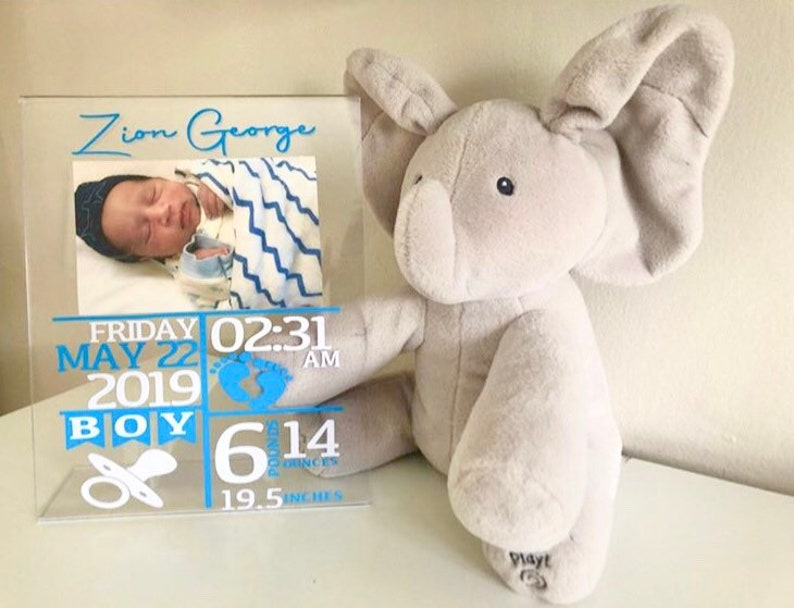 Gift for baby Boy /& Girl Newborn Birth Announcement Glass Baby Birth Stat Plaque or Glass with Frame Gift for mom. Glass,Plexiglass