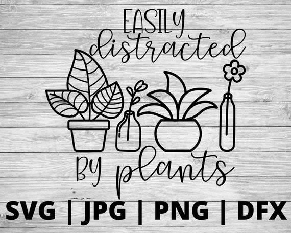 Easily distracted by plants SVG