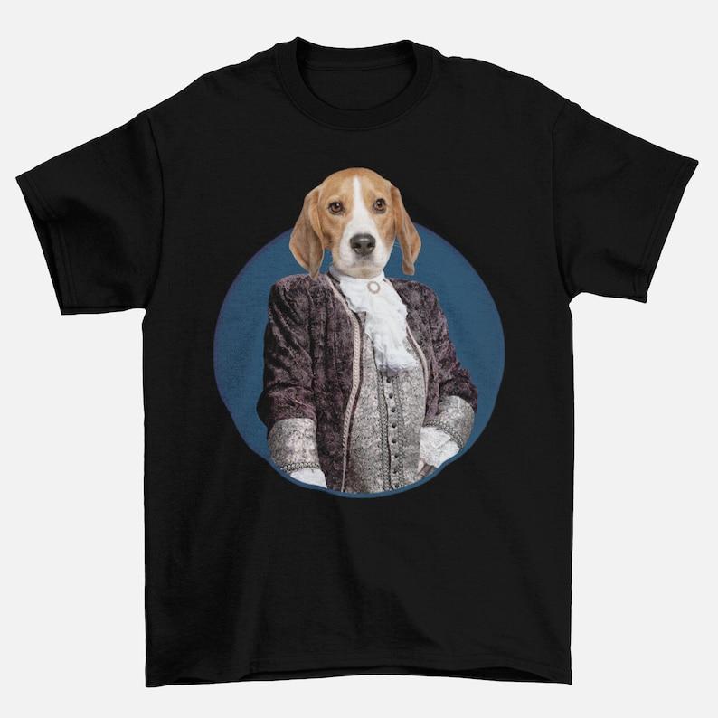 Custom Cat T-Shirt Costume T-Shirt Custom Dog T-Shirt Custom Pet T-Shirt Lord Barney Pet Photo T-Shirt Gift For Dog Lovers