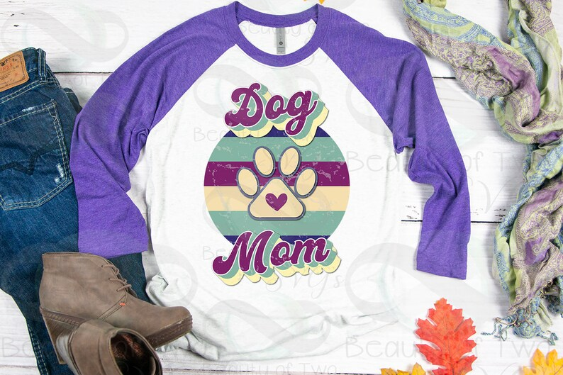 Distressed Dog Mom  Sublimation Design png Dog png Instant Download,Clipart Sublimation Download Dog Mom Retro Vintage Sublimation design