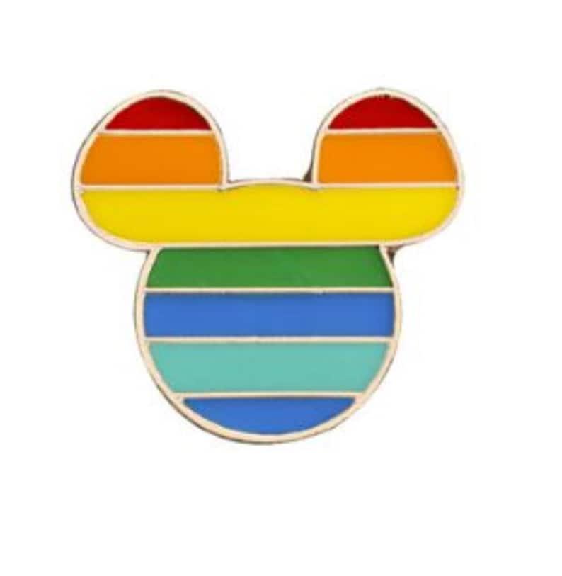 Rainbow Pin  LGBTQ Rainbow Pin  Pride Pin  Colorful Pin  Rainbow Mickey Mouse Pin
