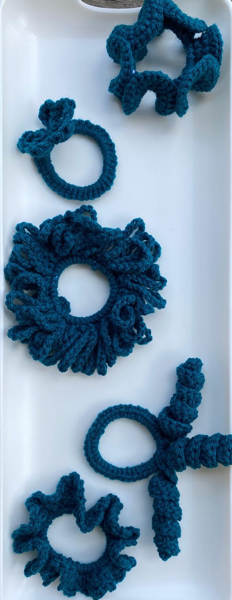 Crochet Hair Scrunchies
