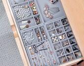 Jewelry Organizer Velvet Trays, Jewelry Box, Jewelry Tray, Jewelry Display, Jewellery Case, Dresser Drawer Inserts, Velvet Tray