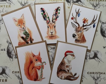 Cute wildlife Christmas cards for animal lovers