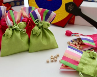 Lucky silk pouch. perfect for gift wrapping idea of accessories