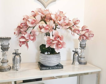 Haisley xxl real touch Faux Orchid floral display