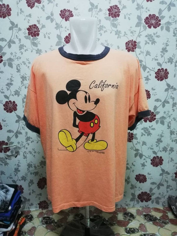 Vintage 90s Mickey Mouse by Velva Sheen Ringer Shi