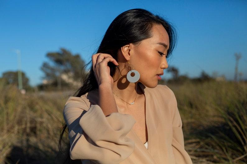 CARTESIAN  Handmade Earrings  Polymer Clay  Modern jewelry  Statement light weight earrings dangle drop