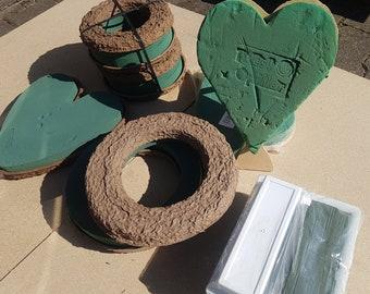 TuEs Opiflor Oasis Foam Ring, Heart, Bowl Angular