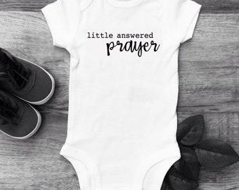 bambino new baby boy girl onesie Little Answered Preghiera bodysuit prayer Zia Nonni Italian adorable cute onesie baby shower gift