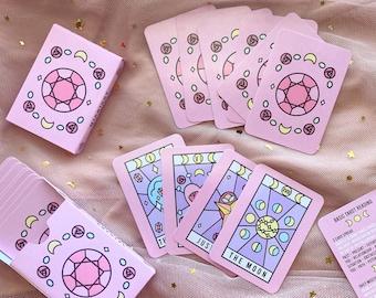 Aesthetic Mini Tarot Cards | Midnight Crystal Deck | Major Arcana | Majors Only Tarot Deck