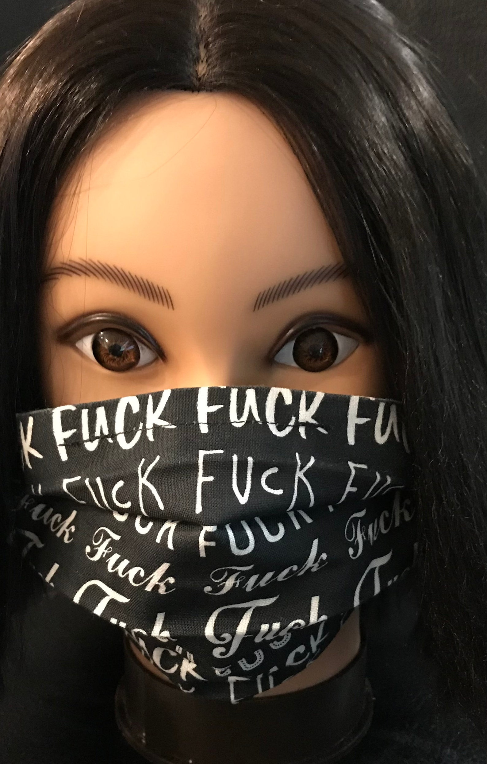 Black and White Fuck Soft Cotton Face Mask | Etsy