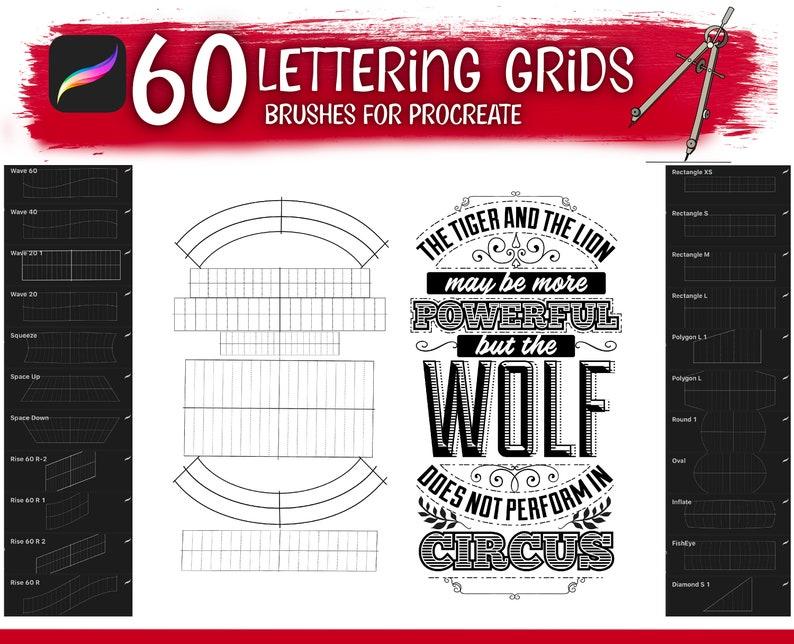 Builder Lettering Guide Brushes Digital Brush Lettering Builder Grids Procreate Brushes For Procreate Grid Builder