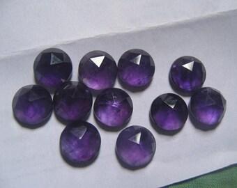 Amethyst Loose Cabochon 58 Cts 18x13 mm 5 Psc. Natural Amethyst Oval Cabochon Amethyst Rose Cut Cabochon Amethyst Cut Gemstone