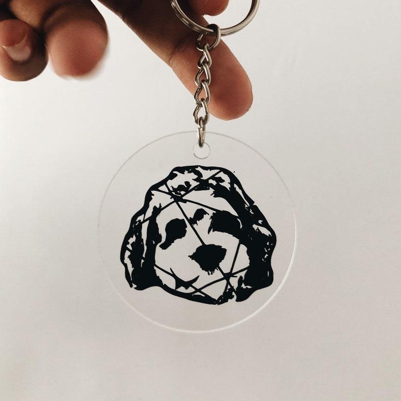 2\u201d Laser Cut Acrylic Custom Dog Portrait Keychain