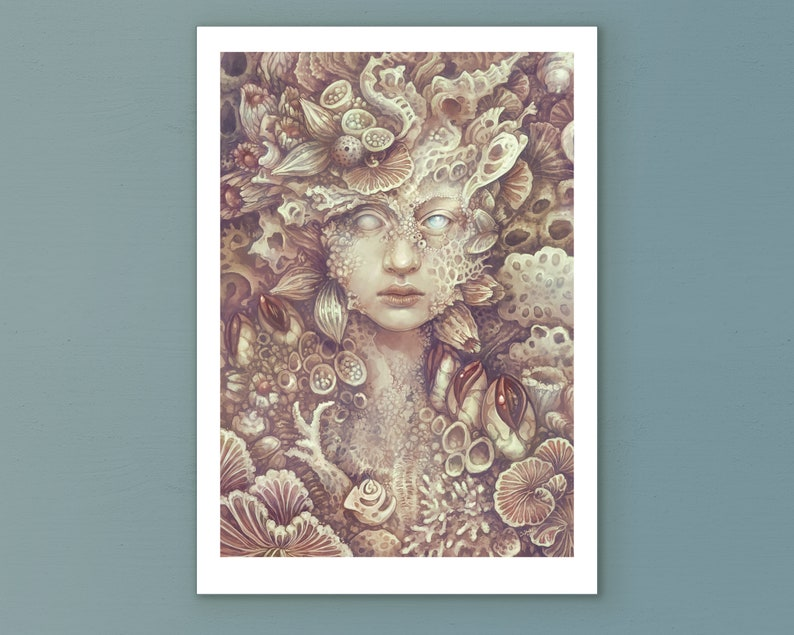 Signed Art Print Echoes from the past  Fantasy image 0