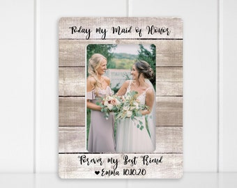 Matron of Honor Proposal Gift Picture Frame Wedding Photo Display Bridal Shower Gift for Sister Aunt Cousin Christmas Gift