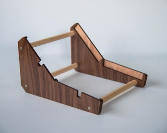 ImpossibleShape 0-Easel - 2 Tier stand for 0-Coast & 0-Ctrl with felt dust covers | Dark Walnut | Benoit's Design Co. Music Supply
