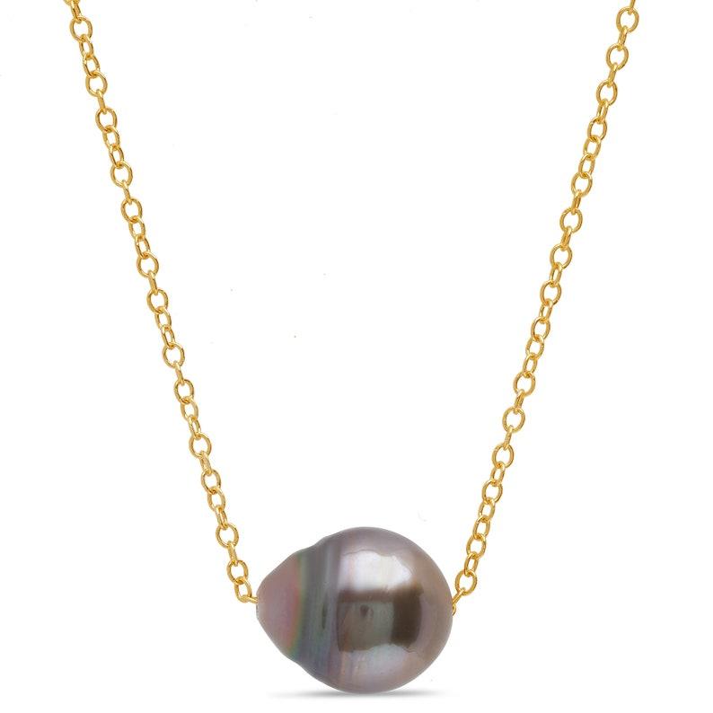 Handmade Single Tahitian Pearl Necklace
