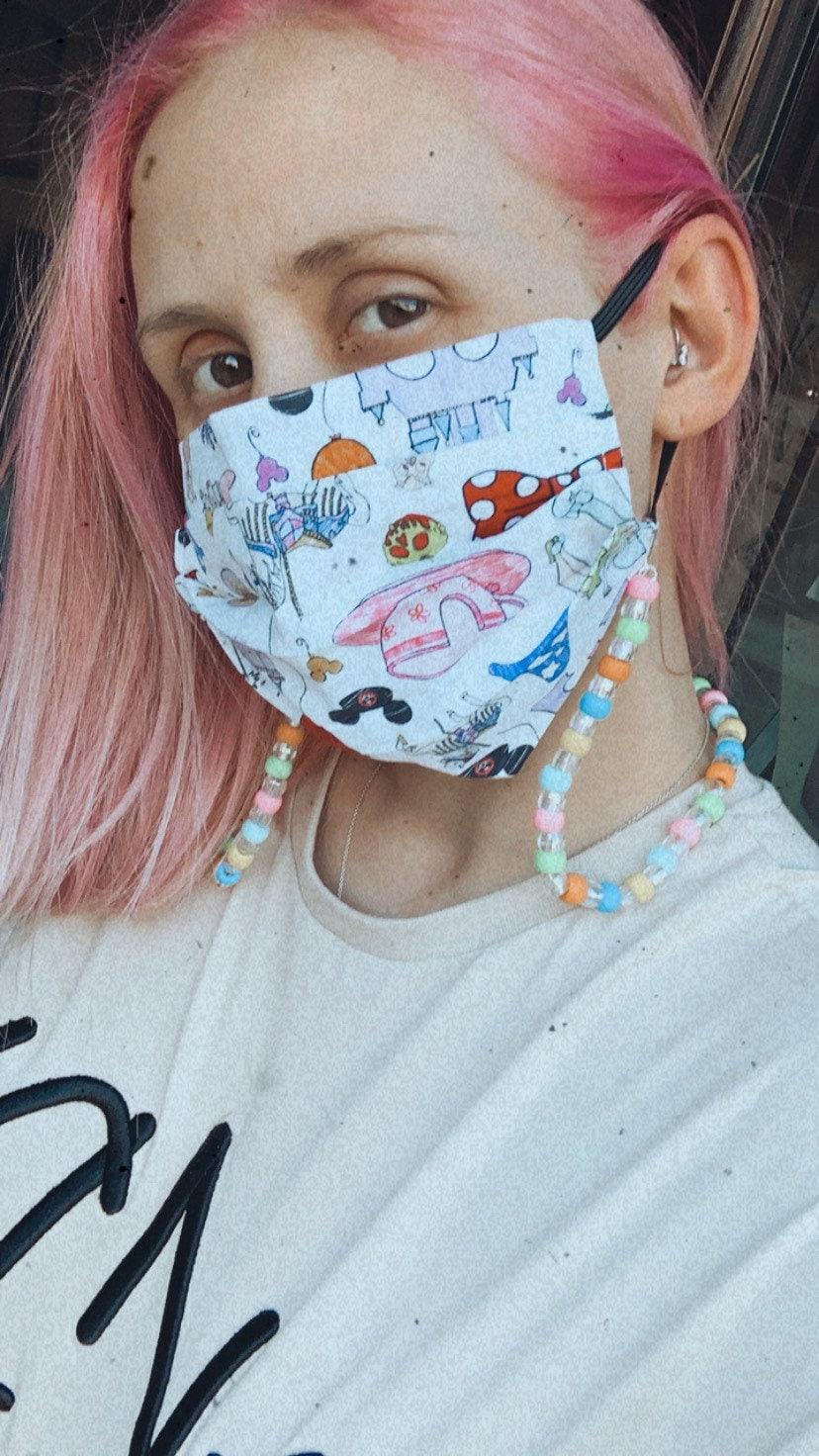 Disney Face Mask Chain Carousel of Progress Wall