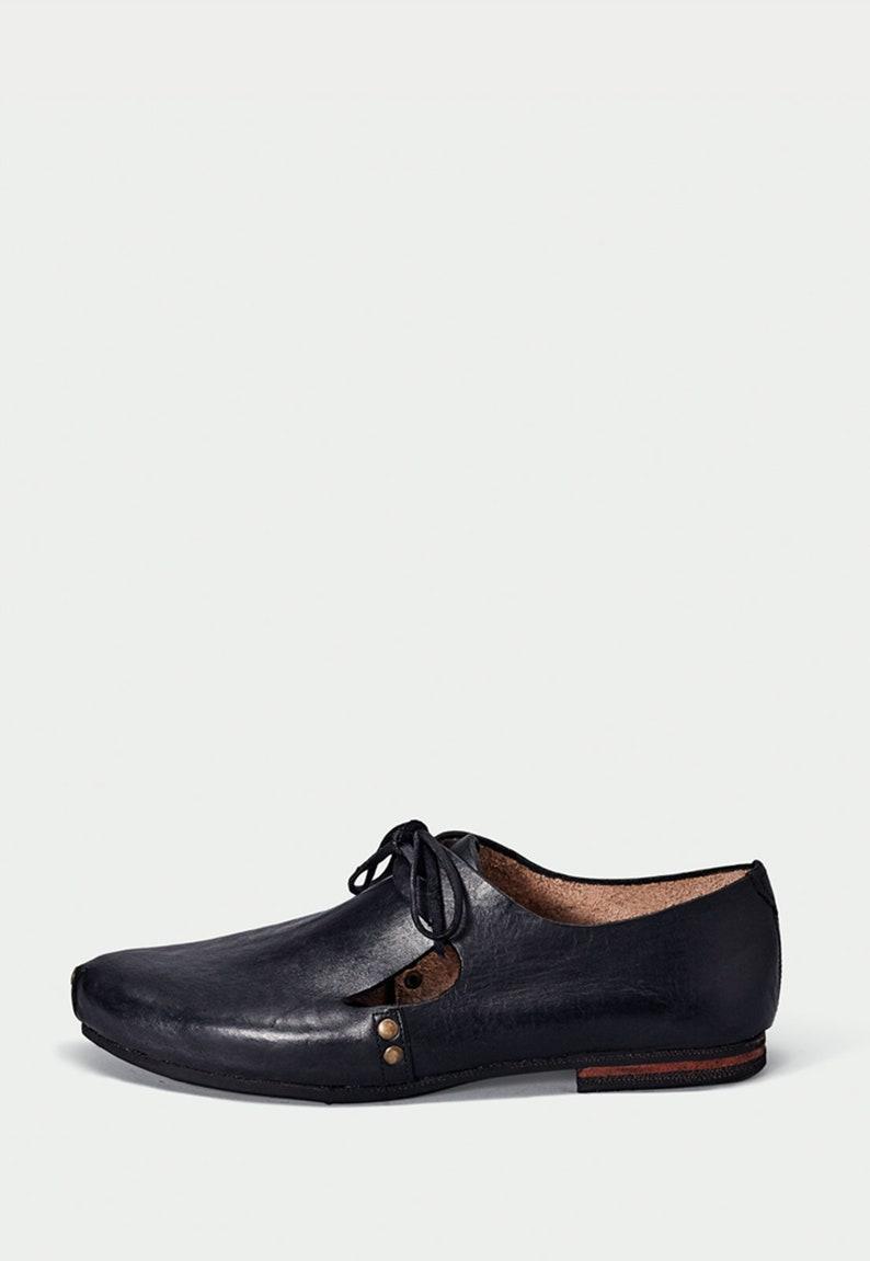 darkacademia steampunk cottagecore Leather shoe black woman vintage boot vintage victorian lightacademia espadrille huarache witch pirate