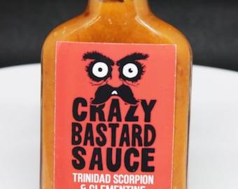 Trinidad Scorpion & Clementine Hot Sauce : Crazy Bastard Sauce