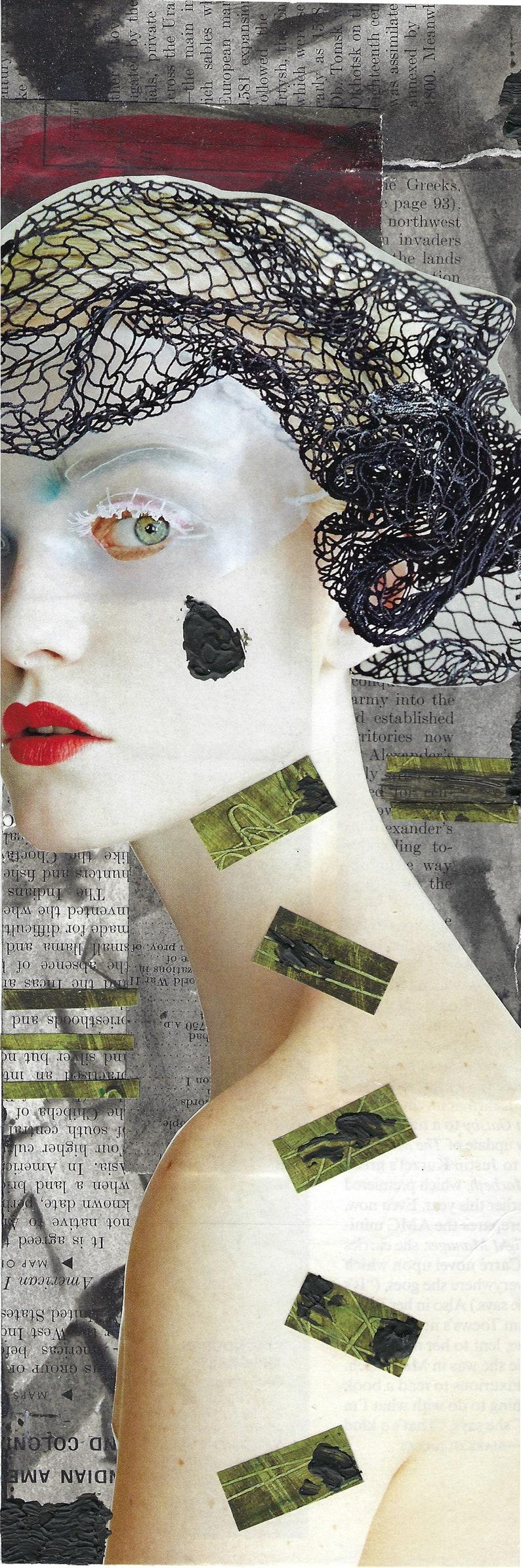 collage art print Greed