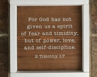 Power and Love   2 Timothy 1:7