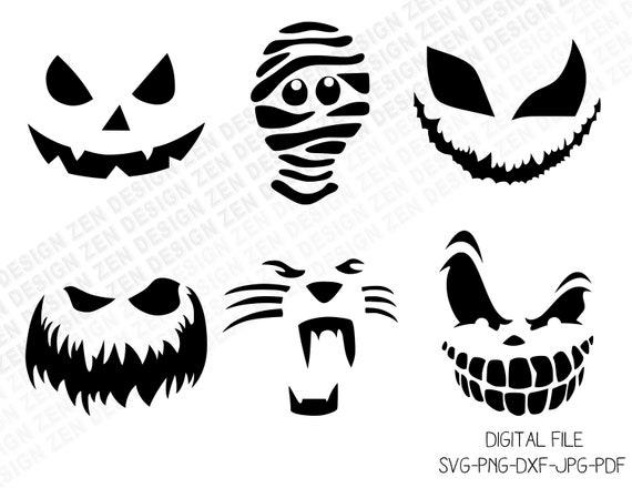 Halloween Bundle Svg Pumpkin Faces Svg Scary Faces Svg