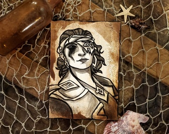 Custom Pirate Portrait - Sea of Thieves Inspired