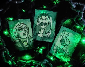 Custom Ferry of the Damned Ghost Portraits - Sea of Thieves Inspired - GLOW in the DARK