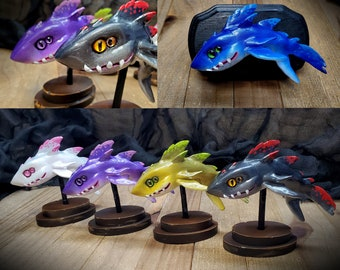 Baby Megalodon Sculpture - Sea of Thieves Inspired