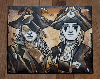 Custom Duo Pirate Portrait - Sea of Thieves Inspired
