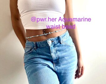 Jewelry Belly Chain Handmade Made in Canada Fashion Healing Agate Mix Waist Bead