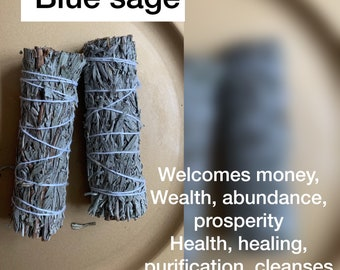 Blue sage smudge