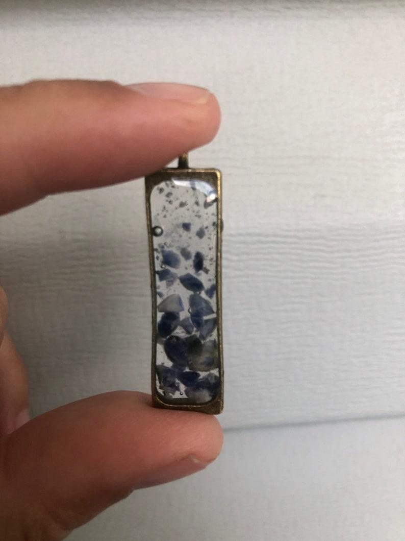 Sodalite Resin Pendant Necklace