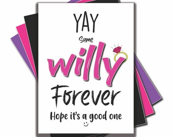 Funny 75mm badge pocket mirror fridge magnet yay same willy forever bride to be engagement gift present friend bestie wedding marriage B121