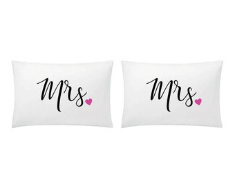 Yin Yang Couple pillow cases pillowcases gift Gay Lesbian Couples Pillow Cases His and Hers Pillowcases Couples Gifts Boyfriend Girlfriend