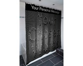 Joy Division Style Personalised Shower Curtain quot Unknown Pleasures quot . A unique and custom shower curtain