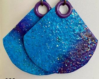 Blue Sparkle Cobalt Blue Angelina Dreads Sparkle Paper Making Glitz Needle Felting Glitz Blending Glitz Art Batt Supply