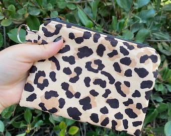 Cheetah print and serape wristlet coin purse