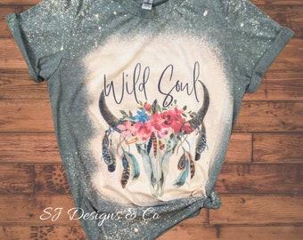 Western Theme Tshirt Western Boho Cowhide Shirt Cowgirl Tee Western Shirt Western Boho Shirt Cowgirl Tee Shirt Western Tees