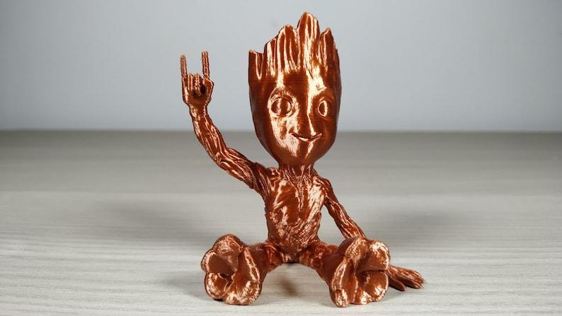 Cute Heavy Metal Baby Groot 3d Printed Flowerpot Planter