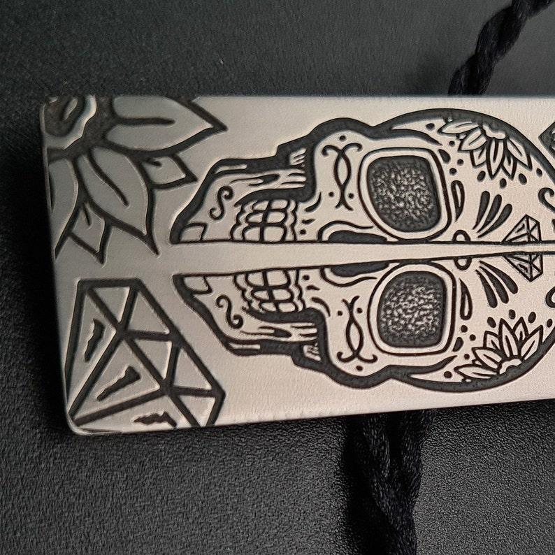 Engraved necklace Men/'s jewellery Titanium pendant Titanium EDC Titanium men/'s pendant Engraved Titanium Pendant Anodized Titanium