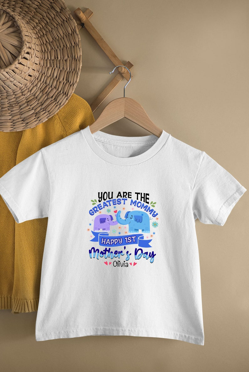 Mama Elephant Elephants Onesie You Are The Greatest Mommy Customized Name Mother/'s Day Gift Personalized Baby Bodysuit