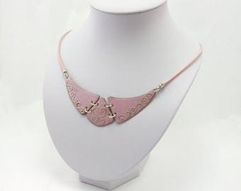 Pink Enamel Necklace