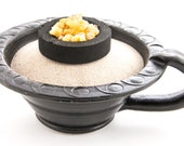 Incense Bowl Smoked Bowl Makal Black Smoking accessories bowl with handle