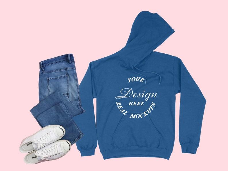 Royal Gildan 18500 Mockup Best Mock-Up Hooded Sweatshirt Mock Up Flat Lay Mockup Display