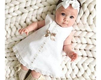 Lovely Christening Gown Baptism Dress Set Girl Outfil Baptismal